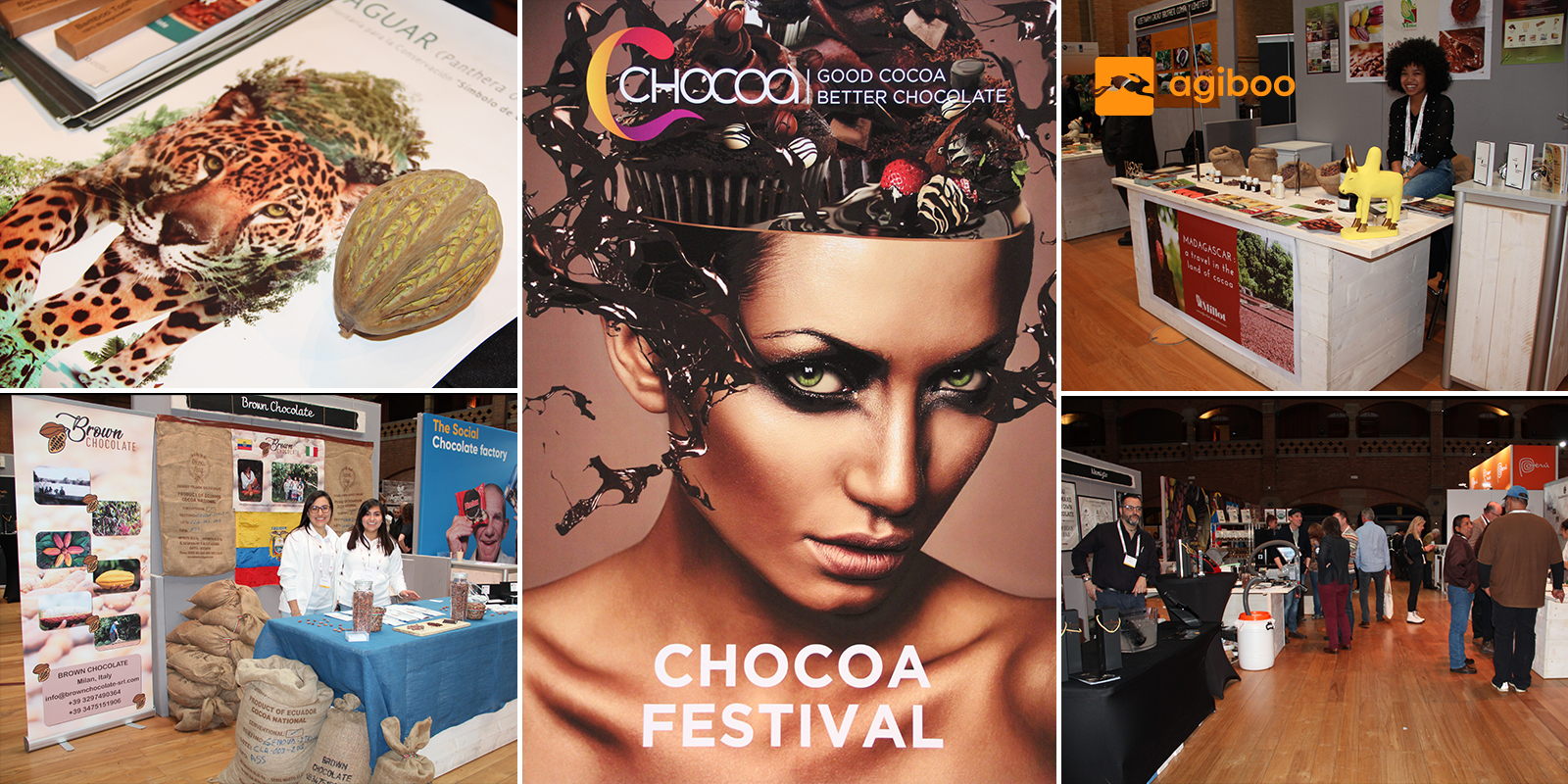 Collage of pictures about chocoa 2020 in Amsterdam